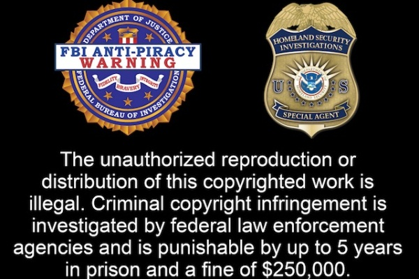FBI's Anti-Piracy Warning Seal